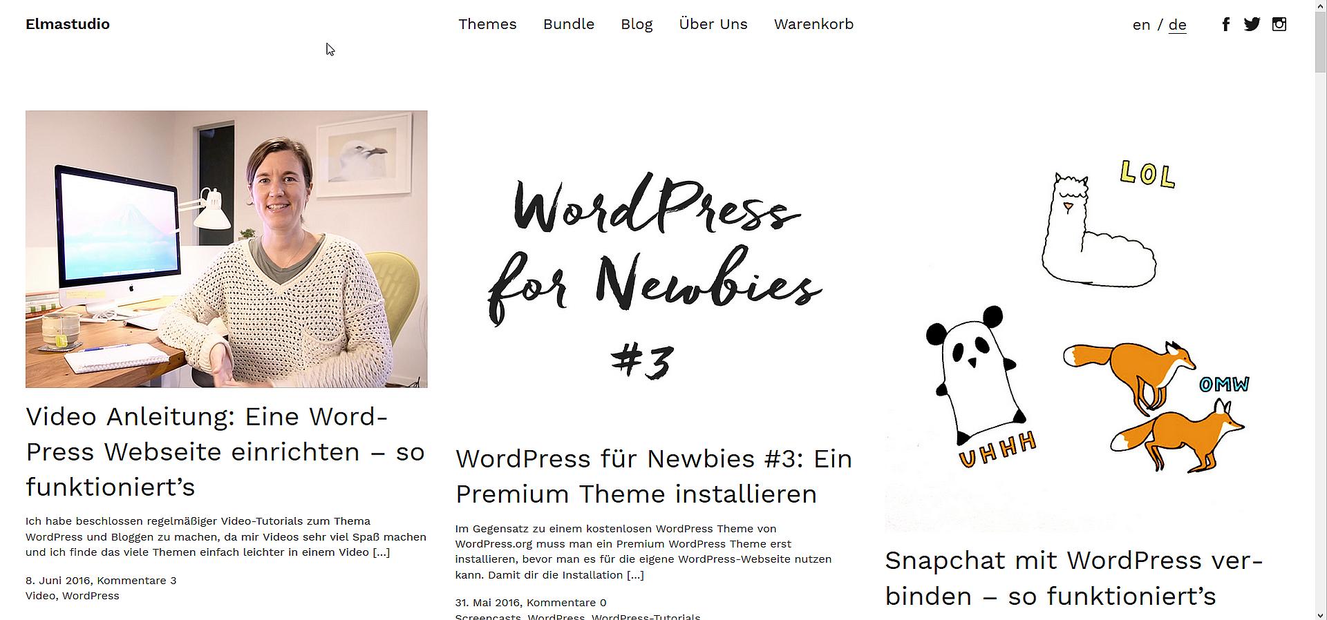 WordPress Themes Designer