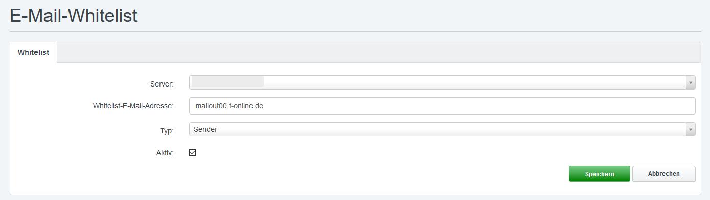 Whitelist für die Mailserver von T-Online